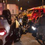 Acidente deixa dois feridos na noite deste domingo no Centro de São Leopoldo