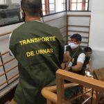 Urnas Eletrônicas são transportadas para as zonas eleitorais em São Leopoldo
