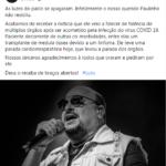 Vocalista da banda Roupa Nova, Paulinho morre aos 68 anos vítima da covid-19