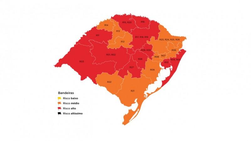 Duas regiões em bandeira vermelha enviam recursos ao mapa preliminar da 39ª rodada