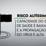 Famurs alerta para recorde de bandeiras pretas e risco alto de transmissão para a população gaúcha