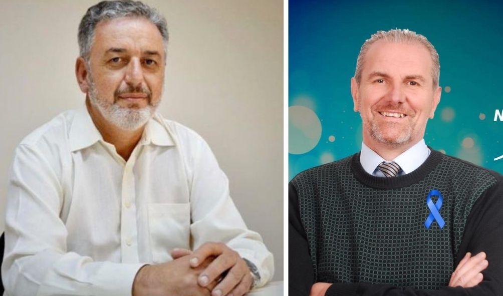 Marcel Frison, Secretário de Saúde de SL, e Sandro Cassel, no Berlinda Entrevista de amanhã