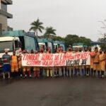 Garis de São Leopoldo fazem protesto pedindo por vacina