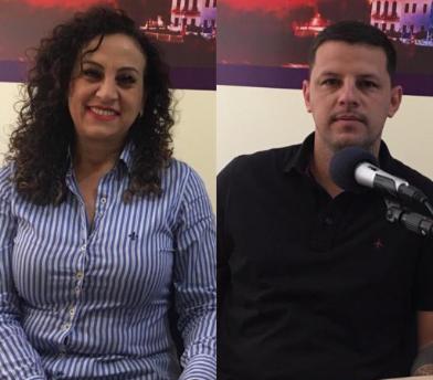 Ana Affonso e Jeferson Falcão mantendo a rivalidade histórica entre PT x MDB em São Leopoldo