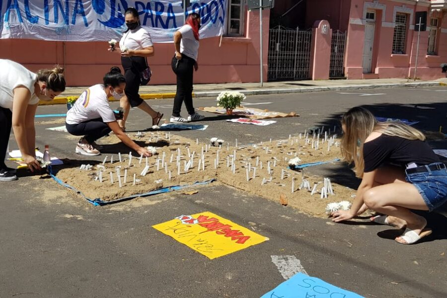 Memorial às vítimas da covid-19 em São Leopoldo