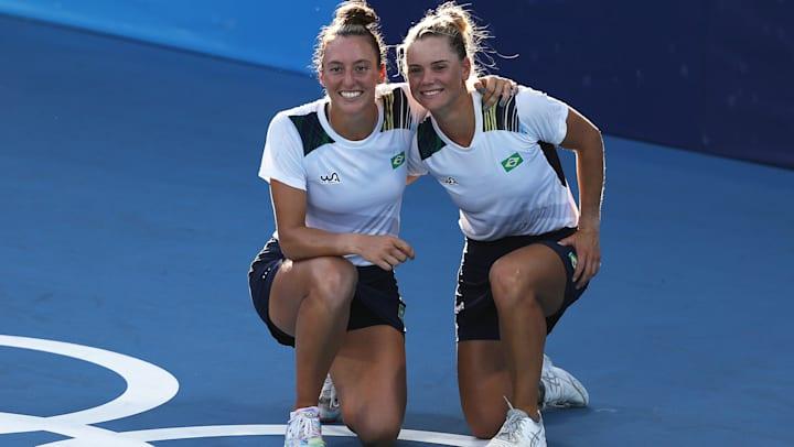 Brasil leva o bronze contra as russas no tênis feminino