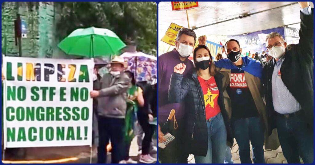 Leopoldenses  protestam em São Leopoldo e Porto Alegre por causas distintas